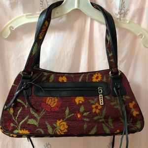 MAXX New York Embroidered Floral Shoulder Bag
